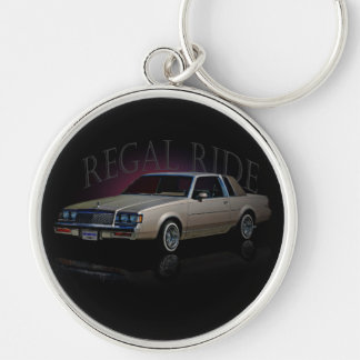 REGAL RIDE Silver-Colored ROUND KEY RING