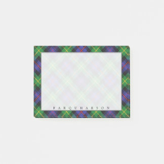 Regal Scottish Clan Farquharson Tartan Post-it Notes