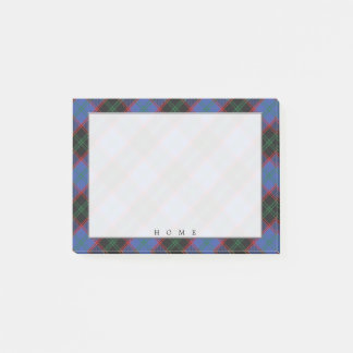 Regal Scottish Clan Home Hume Tartan Post-it Notes