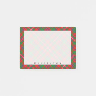 Regal Scottish Clan MacKinnon Tartan Post-it Notes