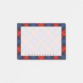 Regal Scottish Clan MacLachlan Tartan Post-it Notes