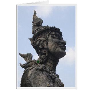 Regal Statue Greeting Card