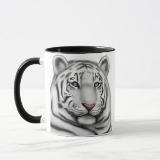 Regal White Tiger Ringer Mug