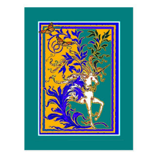 Regal White Unicorn Gifts by Sharles Postcard