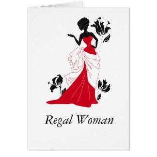 Regal Woman (Blank In-side) Greeting Card