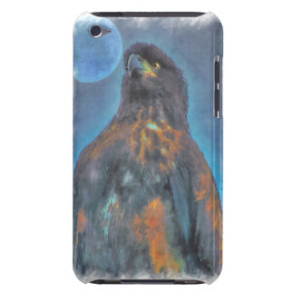 Regal Young Bald Eagle and Moon Painting iPod Case-Mate Cases
