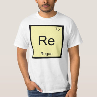 Regan Name Chemistry Element Periodic Table Tee Shirt