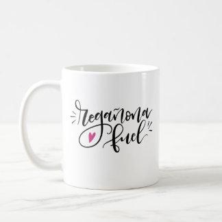 Regañona Fuel, hand lettered Coffee Mug