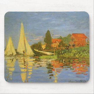 Regatta at Argenteuil by Claude Monet Mouse Pad
