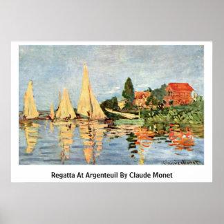 Regatta At Argenteuil By Claude Monet Poster