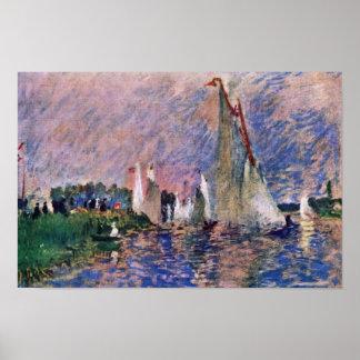 Regatta At Argenteuil By Pierre-Auguste Renoir Poster