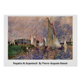 Regatta At Argenteuil By Posters
