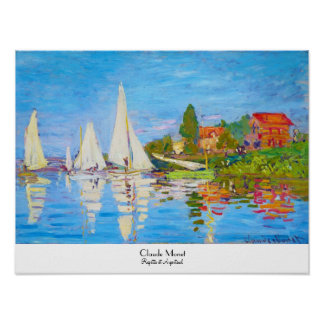 Regatta at Argenteuil Claude Monet Poster