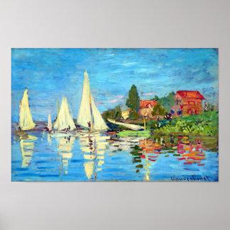 Regatta At Argenteuil, Claude Monet Print Posters
