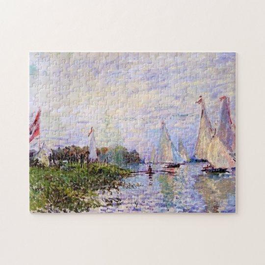 Regatta at Argenteuil Monet Fine Art Jigsaw Puzzle