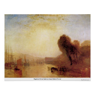 Regatta at Cowes Castle by Joseph Mallord Turner Posters