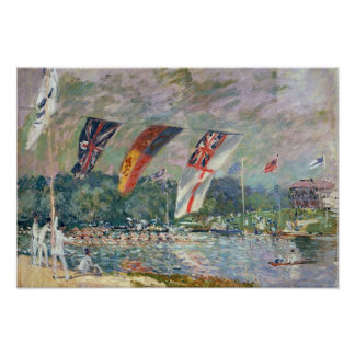 Regatta at Molesey, 1874 Poster