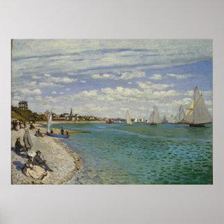 Regatta at Sainte-Adresse - Claude Monet Print