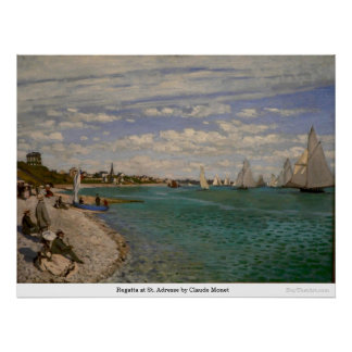 Regatta at St. Adresse by Claude Monet Poster