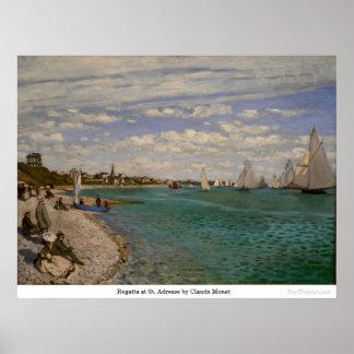 Regatta at St Adresse by Claude Monet Print