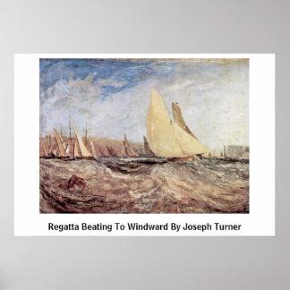 Regatta Beating To Windward By Joseph Turner Print