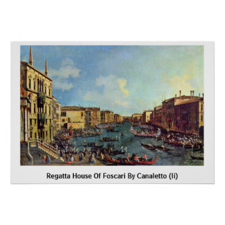 Regatta House Of Foscari By Canaletto (Ii) Posters