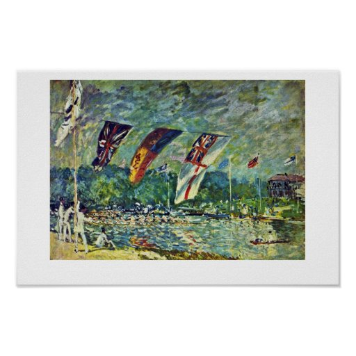 Regatta In Molesey,  By Sisley Alfred Posters