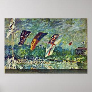 Regatta In Molesey,  By Sisley Alfred Print
