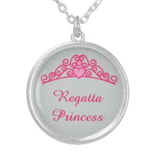 "Regatta Princess Round Silver Pendant Necklace 18"""