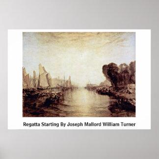 Regatta Starting By Joseph Mallord William Turner Print