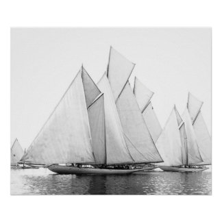 Regatta:  The Schooners Start Poster