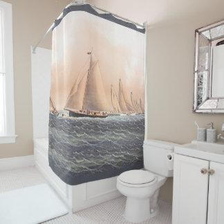 Regatta Yachts Sailing Boats 1854 Shower Curtain