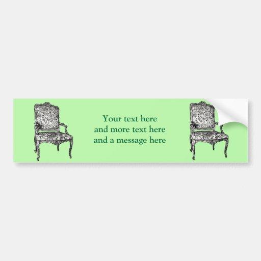 Regency chair in lime green bumper sticker
