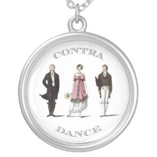 Regency English Contra Dance Pendant Necklace