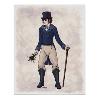 Regency Fashion - Gentleman #1 - 11x14 Art Print