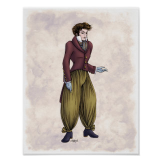 Regency Fashion - Gentleman #6 - 11x14 Art Print