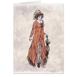 Regency Fashion - Lady #2 - Art Card