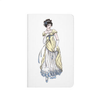 Regency Fashion Mini Journal Notebook - Lady #1