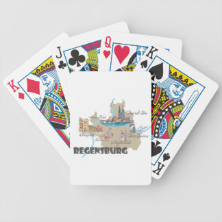 Regensburg Germany map Bicycle Playing Cards