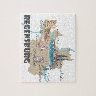 Regensburg Germany map Jigsaw Puzzle
