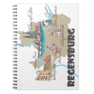 Regensburg Germany map Notebooks