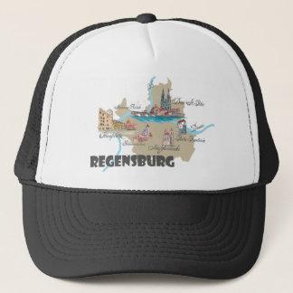 Regensburg Germany map Trucker Hat