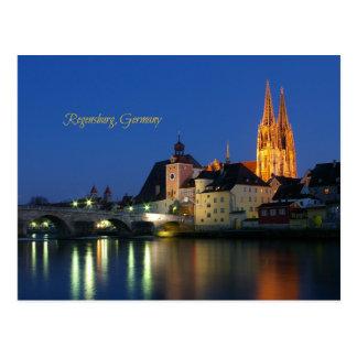 Regensburg, Germany scenic landscape photo Postcard