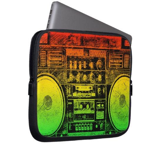 reggae boombox laptop sleeve