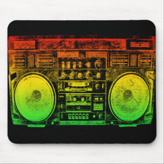 Reggae Boombox Mouse Pad