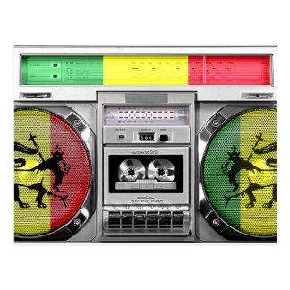 reggae boombox postcard