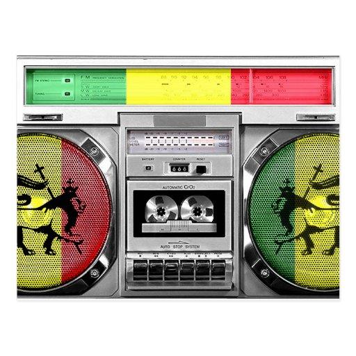 reggae boombox postcards