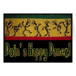 reggae dance birthday card