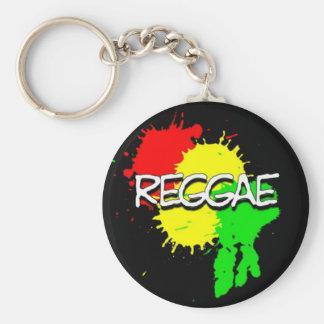 reggae flag spots on a black background key ring