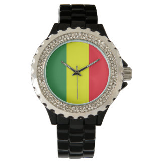 reggae flag wrist watches